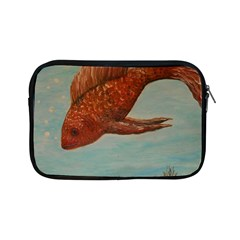 Gold Fish Apple Ipad Mini Zippered Sleeve by rokinronda
