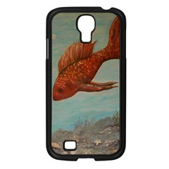 Gold Fish Samsung Galaxy S4 I9500/ I9505 Case (black) by rokinronda