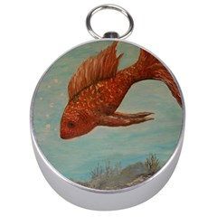 Gold Fish Silver Compass by rokinronda