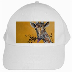 Giraffe Treat White Baseball Cap by rokinronda