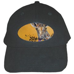 Giraffe Treat Black Baseball Cap by rokinronda