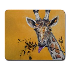 Giraffe Treat Large Mouse Pad (rectangle) by rokinronda