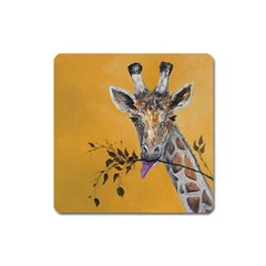 Giraffe Treat Magnet (square)