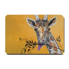 Giraffe Treat Small Door Mat by rokinronda