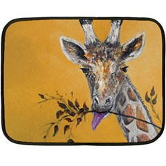Giraffe Treat Mini Fleece Blanket (two Sided) by rokinronda