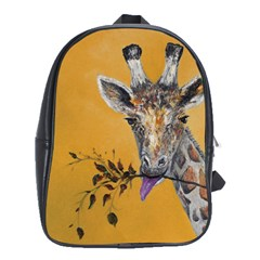 Giraffe Treat School Bag (large) by rokinronda