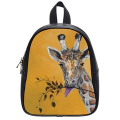 Giraffe Treat School Bag (small) by rokinronda