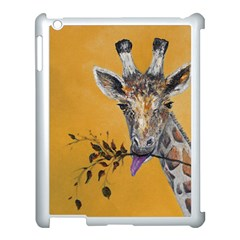Giraffe Treat Apple Ipad 3/4 Case (white) by rokinronda
