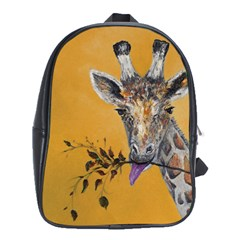 Giraffe Treat School Bag (xl) by rokinronda