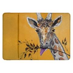 Giraffe Treat Samsung Galaxy Tab 8.9  P7300 Flip Case by rokinronda