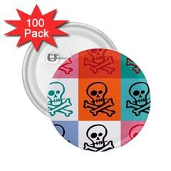 Skull 2 25  Button (100 Pack) by Siebenhuehner