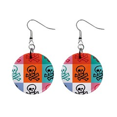 Skull Mini Button Earrings by Siebenhuehner
