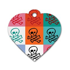 Skull Dog Tag Heart (two Sided) by Siebenhuehner