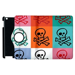 Skull Apple Ipad 2 Flip 360 Case by Siebenhuehner
