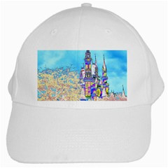 Castle For A Princess White Baseball Cap by rokinronda