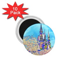 Castle For A Princess 1 75  Button Magnet (10 Pack) by rokinronda
