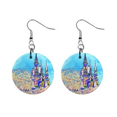 Castle For A Princess Mini Button Earrings by rokinronda