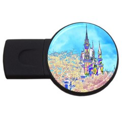 Castle For A Princess 4gb Usb Flash Drive (round) by rokinronda