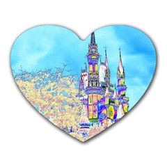 Castle For A Princess Mouse Pad (heart) by rokinronda