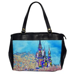 Castle For A Princess Oversize Office Handbag (one Side)
