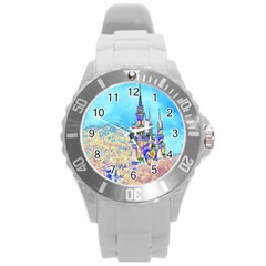 Castle For A Princess Plastic Sport Watch (large) by rokinronda
