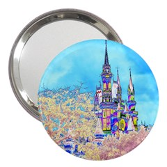 Castle for a Princess 3  Handbag Mirror by rokinronda