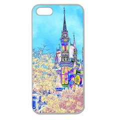 Castle For A Princess Apple Seamless Iphone 5 Case (clear) by rokinronda