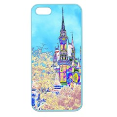 Castle For A Princess Apple Seamless Iphone 5 Case (color) by rokinronda