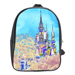 Castle For A Princess School Bag (xl) by rokinronda