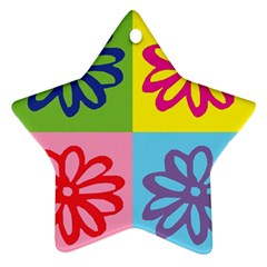 Flower Star Ornament by Siebenhuehner