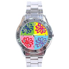 Flower Stainless Steel Watch by Siebenhuehner