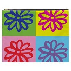 Flower Cosmetic Bag (xxxl) by Siebenhuehner
