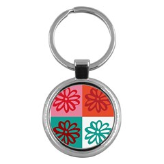 Flower Key Chain (round) by Siebenhuehner