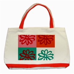 Flower Classic Tote Bag (red) by Siebenhuehner