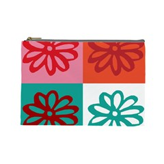 Flower Cosmetic Bag (large) by Siebenhuehner