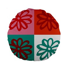 Flower 15  Premium Round Cushion  by Siebenhuehner