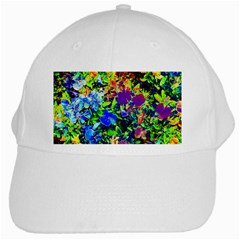The Neon Garden White Baseball Cap by rokinronda
