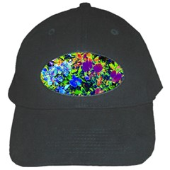 The Neon Garden Black Baseball Cap by rokinronda