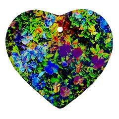 The Neon Garden Heart Ornament by rokinronda