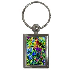 The Neon Garden Key Chain (rectangle) by rokinronda