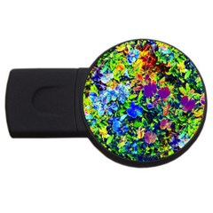 The Neon Garden 2gb Usb Flash Drive (round) by rokinronda