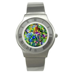 The Neon Garden Stainless Steel Watch (slim)