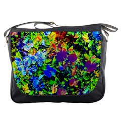 The Neon Garden Messenger Bag by rokinronda