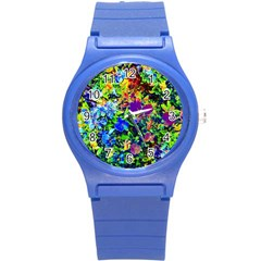 The Neon Garden Plastic Sport Watch (small) by rokinronda