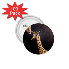 Baby Giraffe And Mom Under The Moon 1.75  Button (100 pack) by rokinronda