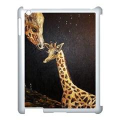 Baby Giraffe And Mom Under The Moon Apple Ipad 3/4 Case (white) by rokinronda
