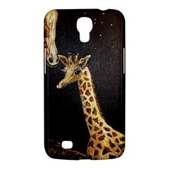 Baby Giraffe And Mom Under The Moon Samsung Galaxy Mega 6 3  I9200 Hardshell Case by rokinronda