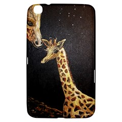 Baby Giraffe And Mom Under The Moon Samsung Galaxy Tab 3 (8 ) T3100 Hardshell Case  by rokinronda