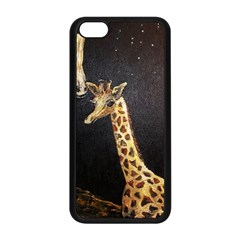 Baby Giraffe And Mom Under The Moon Apple Iphone 5c Seamless Case (black) by rokinronda