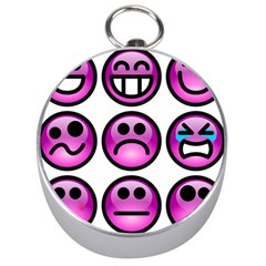 Chronic Pain Emoticons Silver Compass by FunWithFibro